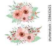 vector of flowers decoration... | Shutterstock .eps vector #258632621