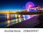 The Santa Monica Pier At Night...