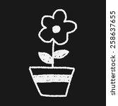 flower doodle drawing | Shutterstock .eps vector #258637655