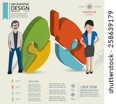 puzzle info graphic design... | Shutterstock .eps vector #258639179