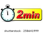 illustration of two minutes... | Shutterstock .eps vector #258641999