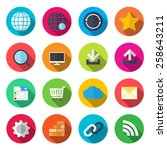 internet flat icons