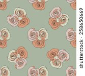 seamless pattern with rose. | Shutterstock .eps vector #258650669
