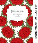 save the date wedding invite... | Shutterstock .eps vector #258651149