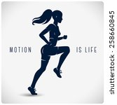 Vector Silhouette Of Running...