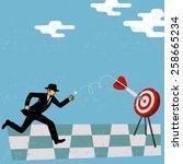 success in business  | Shutterstock .eps vector #258665234