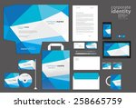 color corporate identity... | Shutterstock .eps vector #258665759