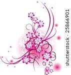 floral ornament. | Shutterstock .eps vector #25866901