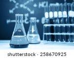 laboratory glassware containing ... | Shutterstock . vector #258670925