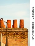 Old Brick Chimney Stack And...