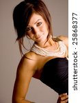 young beautiful brunette | Shutterstock . vector #25868377