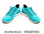 blue running shoes isolated on... | Shutterstock . vector #258685481