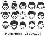 avatar vector illustration icon ... | Shutterstock .eps vector #258691394