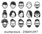 avatar vector illustration icon ... | Shutterstock .eps vector #258691397