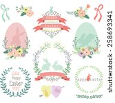 easter design elements | Shutterstock .eps vector #258693341
