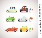 car flat icon set 8 | Shutterstock .eps vector #258702695