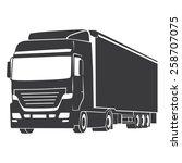 truck silhouette illustration... | Shutterstock .eps vector #258707075