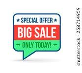 big sale tag for online shop.... | Shutterstock .eps vector #258714959