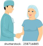 illustration of a plump woman... | Shutterstock .eps vector #258716885