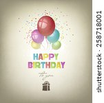 happy birthday background with... | Shutterstock .eps vector #258718001