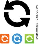 refresh icon   Shutterstock .eps vector #258720191