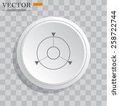 white circle  white button on a ...