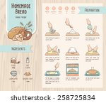 traditional home made bread... | Shutterstock .eps vector #258725834
