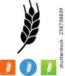 wheat grain symbol | Shutterstock .eps vector #258738839