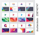 large collection of colorful... | Shutterstock .eps vector #258740747
