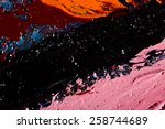abstract hand painted art for... | Shutterstock . vector #258744689
