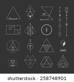 set of vector trendy geometric... | Shutterstock .eps vector #258748901