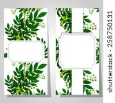 abstract flower background with ... | Shutterstock . vector #258750131