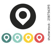 map point icon.vector... | Shutterstock .eps vector #258756395