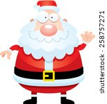 a cartoon illustration of santa ... | Shutterstock .eps vector #258757271