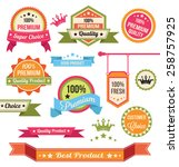 premium vector badges and labels | Shutterstock .eps vector #258757925