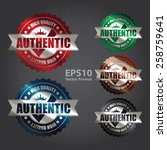 vector   metallic authentic... | Shutterstock .eps vector #258759641