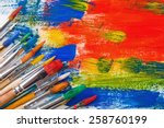 paints and brushes | Shutterstock . vector #258760199