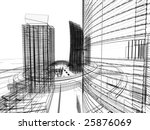 abstract architecture | Shutterstock . vector #25876069