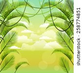 vector background with palm... | Shutterstock .eps vector #258774851