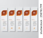 design clean number banners... | Shutterstock .eps vector #258781799