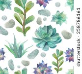 Watercolor Succulents Pattern....