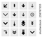 down arrow download icon set.... | Shutterstock .eps vector #258787355