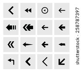 back arrow previous icon set.... | Shutterstock .eps vector #258787397