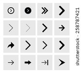 next arrow icon set. simple... | Shutterstock .eps vector #258787421