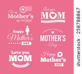 happy mothers day. set of... | Shutterstock .eps vector #258788867
