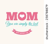 mothers day card with quote  ... | Shutterstock .eps vector #258788879