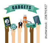 gadgets icon design  vector... | Shutterstock .eps vector #258791927