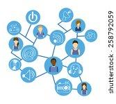 social media design  vector... | Shutterstock .eps vector #258792059