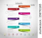 vector timeline infographic... | Shutterstock .eps vector #258792185