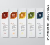 design clean number banners... | Shutterstock .eps vector #258794021